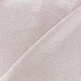 Tissu lin viscose léger uni - rose x 10cm