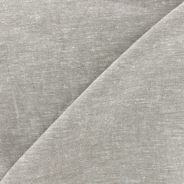 Plain light linen viscose fabric - pearl grey x 10cm