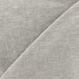 Tissu lin viscose léger uni - gris perle x 10cm