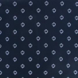 Cotton fabric Mist - navy x 10cm