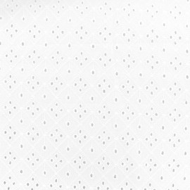 Tissu coton brodé ajouré Bolton - blanc x 10cm