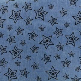 Tissu Jeans fluide Starry - bleu x 10cm