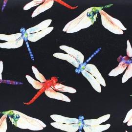 Neoprene fabric Dragonfly - black x 10cm