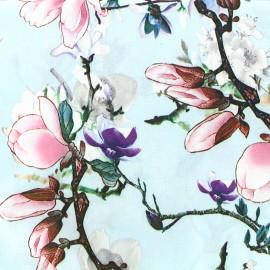 Tissu crêpe Magnolia - ciel x 10cm