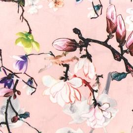 Tissu crêpe Magnolia - rose x 10cm