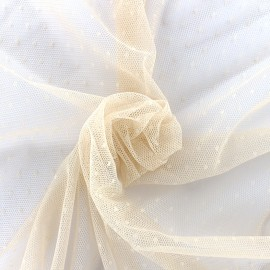 Bran mini point d'esprit tulle fabric - nude x 10cm