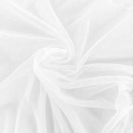Bran mini point d'esprit tulle fabric - white x 10cm