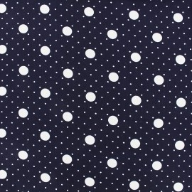 Crepe Fabric Little moon - navy x 10cm