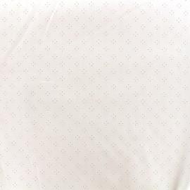 Tissu coton ajouré Little - écru x 10cm
