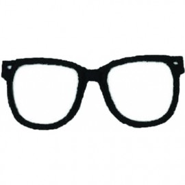 Glasses iron on patch - black