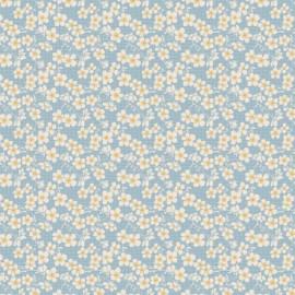 Tissu coton Tilda Cherry blossom - blue x 10cm