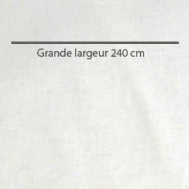 Tissu coton uni blanc grande largeur (240 cm) x 10cm