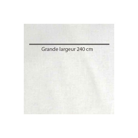 Tissu coton grande largeur uni blanc